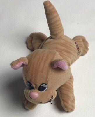 """Tonka Pound Pur-r-ries Plush Stuffed Animal 7"""" Tan Cat Stripes Newborn 1980's"""