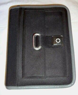 Franklin Covey Black Gray Nylon Zipper Planner 6 Ring Binder Organizer 8.5x6.5