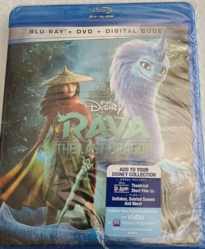 RAYA AND THE LAST DRAGON(BLU-RAY+DVD+DIGITAL)  Brand New