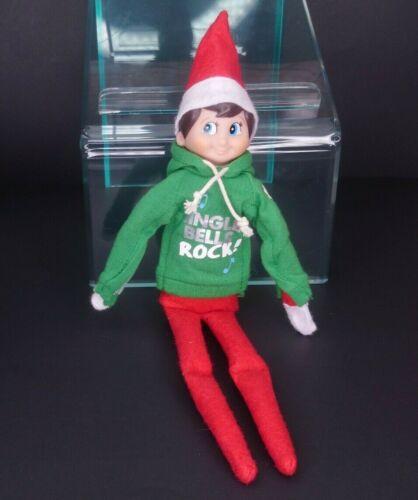 Elf on The Shelf with Sweatshirt Boy Brown Hair Blue Eyes