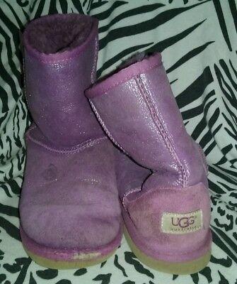 UGG AUSTRALIA CLASSIC GLITTER SHEEPSKIN BOOTS 1000792 KIDS GIRLS  YOUTH SIZE 5