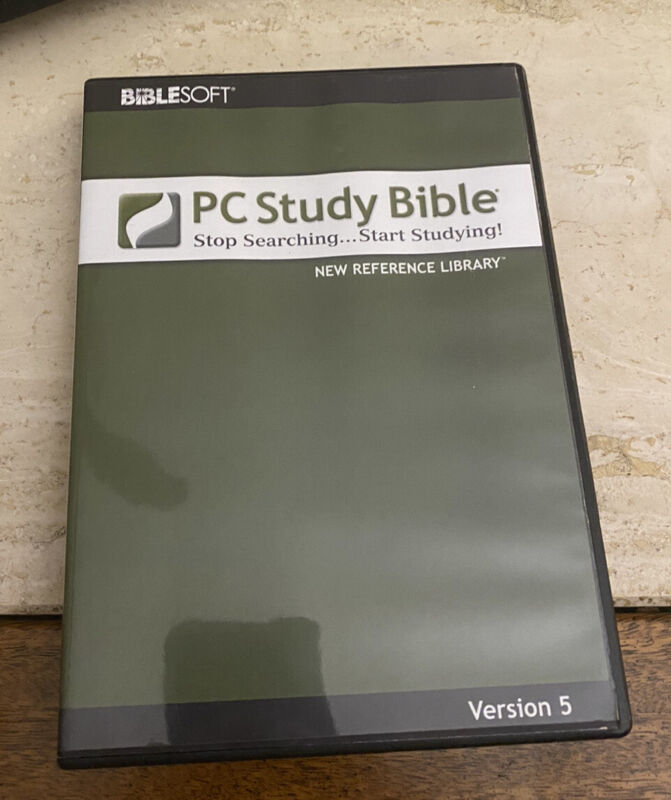 Biblesoft PC Study Bible New Reference Library Version 5 Software For Windows