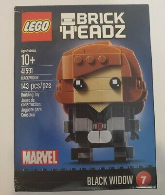 LEGO #41591 BRICKHEADZ #7 BLACK WIDOW!!! RETIRED!!! SEALED IN BOX!!!