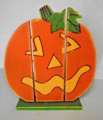 Midwest Wood Halloween Orange Jack-O-Lantern Stand 14