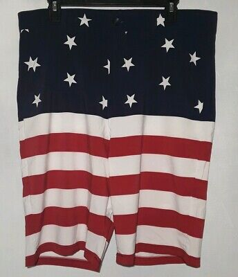 American Flag Swim Trunks By Better Unsaid Mens Size