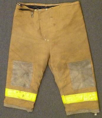 50x27 Pants Firefighter Turnout Bunker Fire Gear W Liner Janesville Lion P914