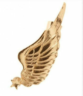 Fashion Gothic Punk Gold Lovely Cute Angel Wing Special Ear Post Stud (Gothic Wing)