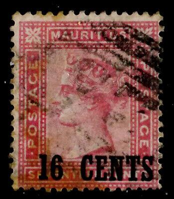 MAURITIUS, BRITISH: 1883 19TH CENTURY CLASSIC ERA STAMP SCOTT #77 CV $60 SOUND