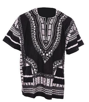 Black African Unisex Dashiki Shirt DP3578 Small to 7XL Plus Size