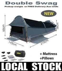 Brand NEW Double Swags Mattress Pillow pegs poles waterproof Wangara Wanneroo Area Preview