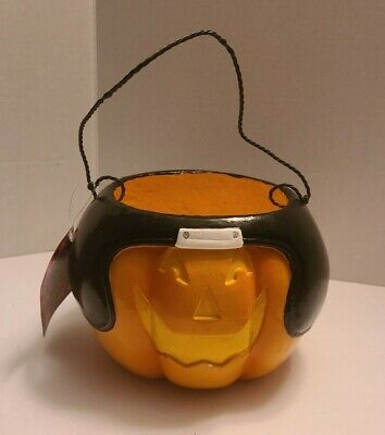 NFL Jaguars Halloween Pumpkin Pail Bucket Trick or Treat Candy Dish