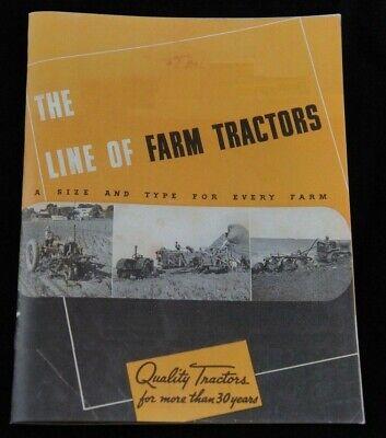 1939 Farmall F-14 20 30 Mccormick O-14 W-14 10-20 Tractractors Tractors Brochure