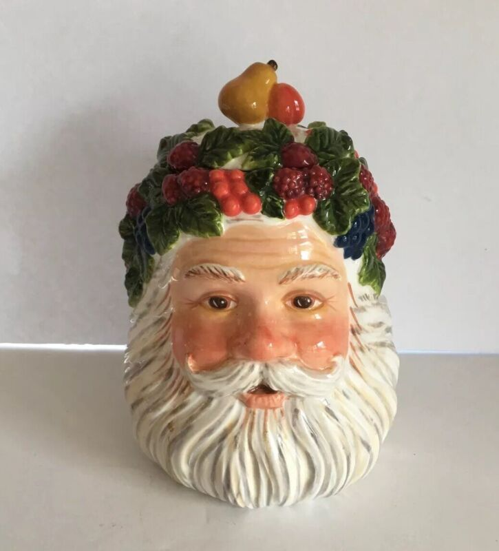 WONDERFUL 2001 DEPARTMENT 56 FATHER CHRISTMAS SANTA CANDLE HOLDER PEGGY TOOLE