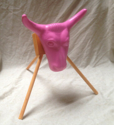 Jr Pink Junior Steer Head Team Roping Rope dummy practice rodeo stand New kids