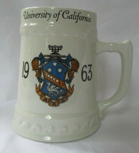 LARGE VINTAGE UNIVERSITY OF CALIFORNIA 1963 BEER STEIN MUG