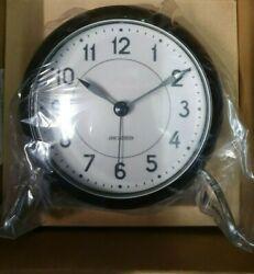 Rosendahl Arne Jacobsen Aj Station Table Clock Alarm Danish Design Black (C)