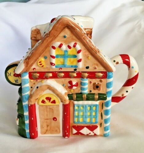 CHRISTMAS GINGERBREAD HOUSE TEAPOT BY ASIA MASTER GROUP