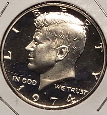 1974 S Clad Proof Kennedy Half Dollar-Gem Proof