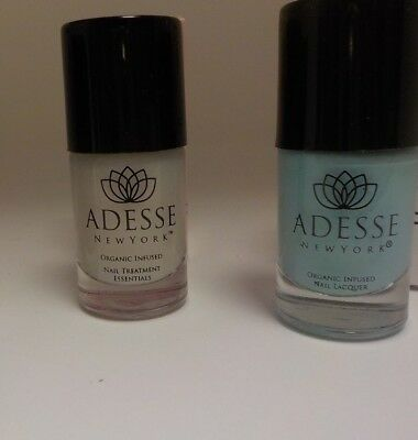 Used, 2 Adesse Organic Products Adesse Surfer Girl & Adesse Base Nail Treatment NO BOX for sale  USA