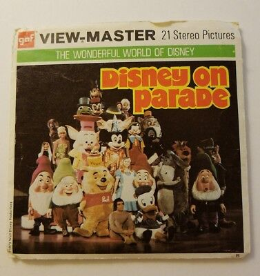 View-Master Walt Disney's DISNEY ON PARADE B517 - 3 Reel Set + Booklet