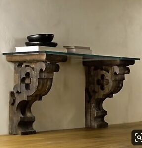 RH Corbel Console Table - Glass Top