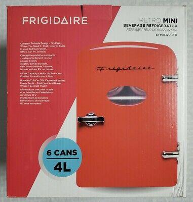Frigidaire Retro Mini Beverage Refrigerator Red Fridge Cosmetics NEW