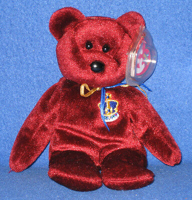 TY BUCKINGHAM the BEAR BEANIE BABY - UK EXCLUSIVE - MINT with MINT TAGS