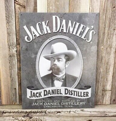 Jack Daniels Old Time Tennessee Whiskey Old No 7 Metal Tin Sign Vintage Bar - Old Time Whiskey