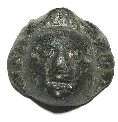 Ancient Greek, 3rd - 2nd c. BC. Bronze face, Decoration