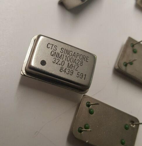 (Lot of 5) 32MHz Crystal Clock Oscillator 4-pin / 14P DIP / QNM1100A28 32.0MHz