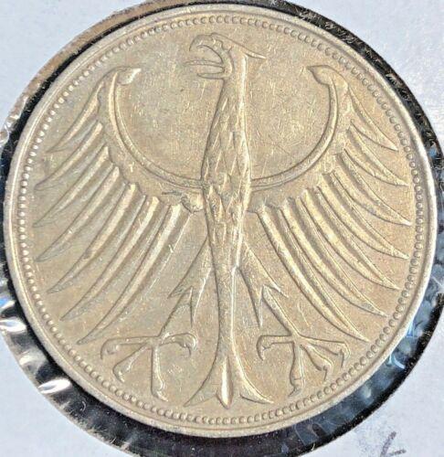 Germany 1956 D 5 Marks KM 112.1