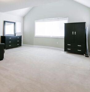 Bedroom Dresser, Mirror & Upright Closet