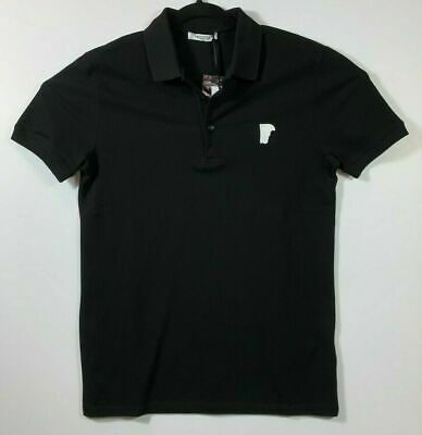 NWT Versace Collection Mens Size Large  Black White Half Medusa Polo Shirt