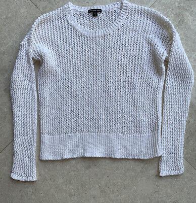James Perse Crochet White Top Size 2 Medium