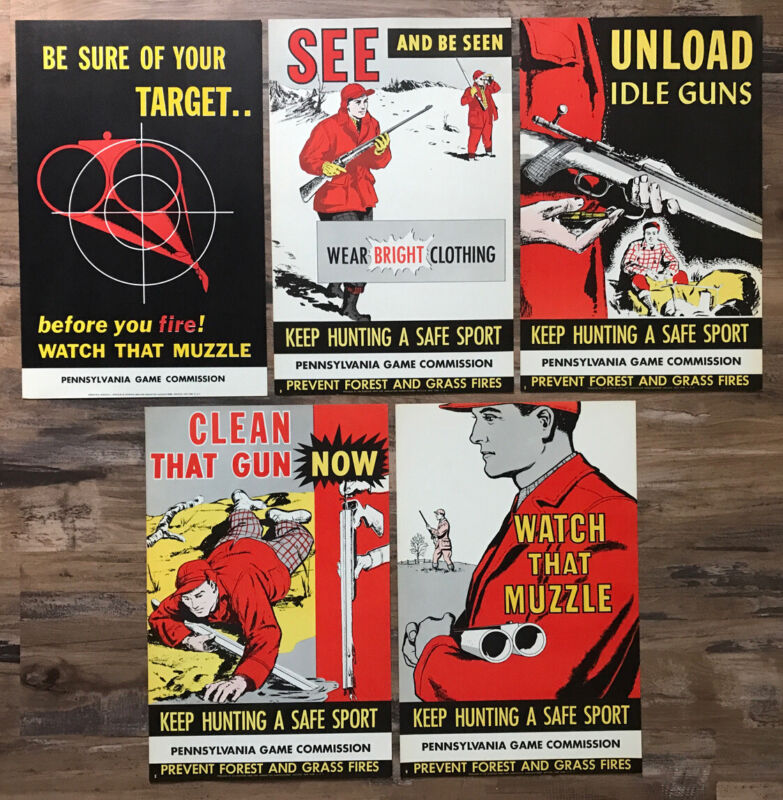 Nice Collection of Original 1950s Pennsylvania Game Commission Posters PGC Patch