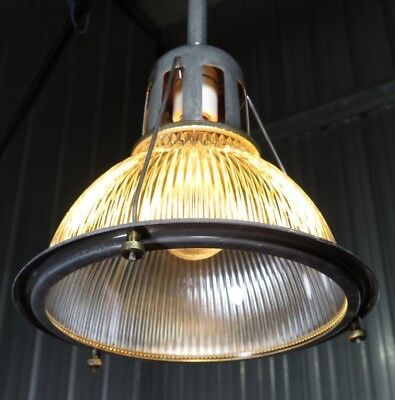 30/'s  40/'s Vtg Warren Tank Plant Industrial Light Holophane Lobay?