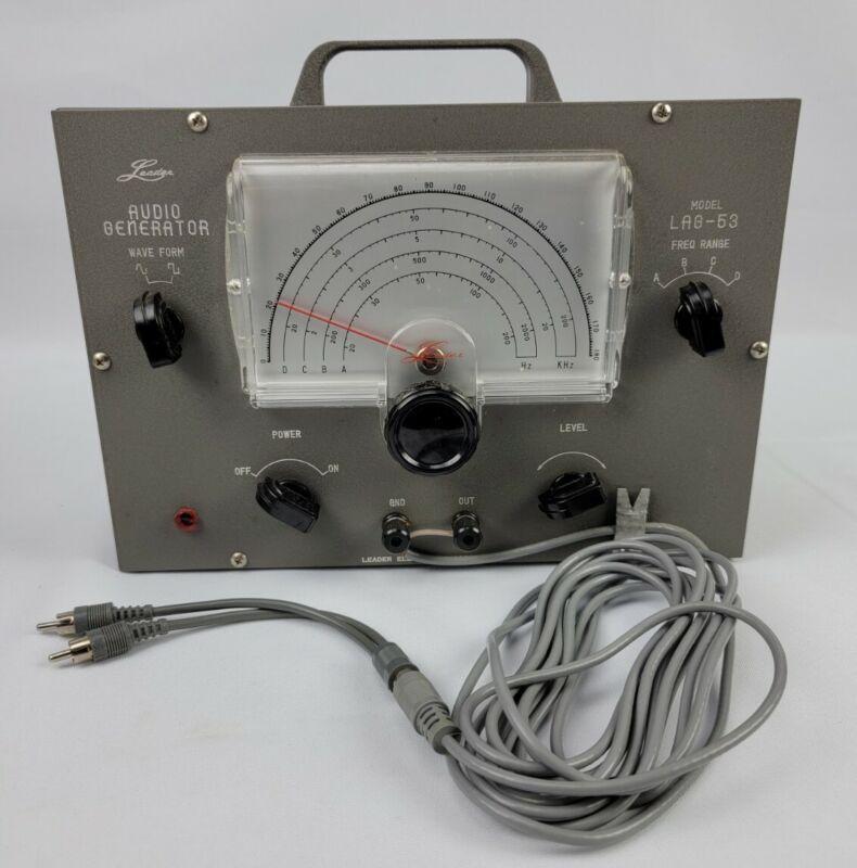 Vtg Leader Model LAG-53 Test Instrument Audio Generator Japan NOS