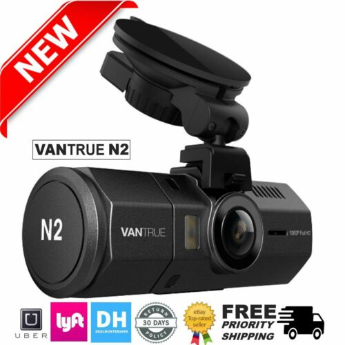 [Upgraded] Vantrue N2 Front & Back Dual Dash Cam HD HDR Camera 64GB! 1080P Loop
