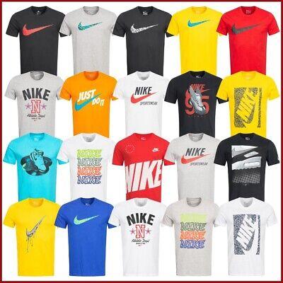 7b2bb6840ee590 Nike T-Shirt Herren Shirt Sport Fitness Freizeit Shirts Swoosh Graphic Logo  NEU