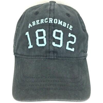 Abercrombie Cap Spell Out Script Hat 1892 Logo Strapback Baseball Trucker Blue
