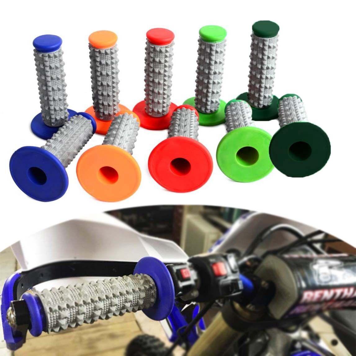 22mm Soft Rubber Handlebar Green Grips For Chinese Pit MX Dirt Bikes motorcross