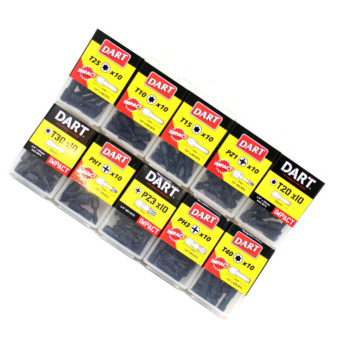 T40 T25 Same Day Despatch 10 PACK T15 T20 DART IMPACT Driver Bits