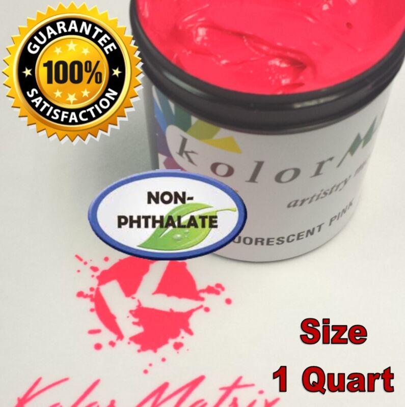 GEN Fluorescent Pink Plastisol Screenprint Ink - Non Phthalate – QUART