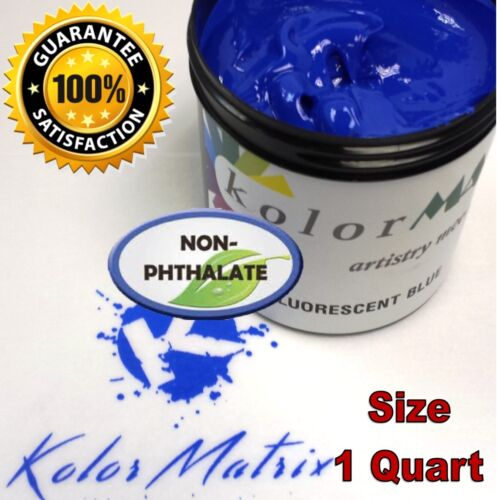 Super Opaque Fluorescent Blue Plastisol Screenprint Ink - Non Phthalate – QUART