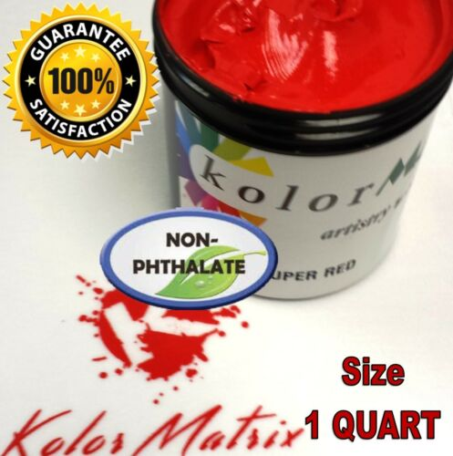 Super Opaque Red Premium Plastisol - Non Phthalate – Screenprint Ink QUART