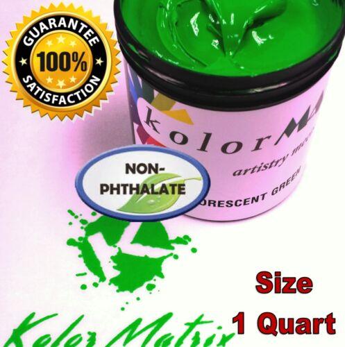 Super Opaque Fluorescent Green Plastisol Screenprint Ink - Non Phthalate – QUART