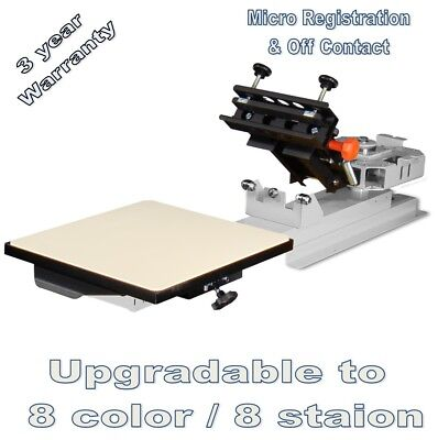Vastex V-1000 Professional Table Top Screen Printing Press 1 Station 1 Color