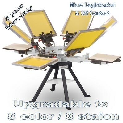Vastex V-1000 Professional Screen Printing Manual Press 4 Station 6 Color