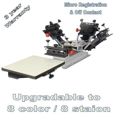 Vastex V-1000 Professional Table Top Screen Printing Press 1 Station And 4 Color