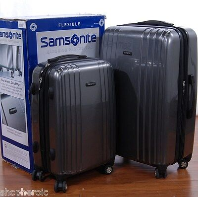 "Samsonite 2 Piece Hardsided Grey Polycarbonate Spinner Luggage Set 21"" 27"" on Rummage"